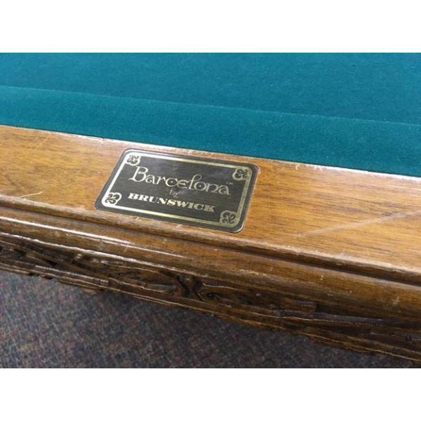 Table de billard Antique extrêmement rare 4½ x 9 pieds Brunswick Barcelona - 2
