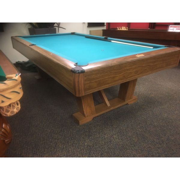 Table de billard usagée Brunswick Imperial VIP 8 x 4 pieds avec ardoise naturelle 1 pouce - IMG 1
