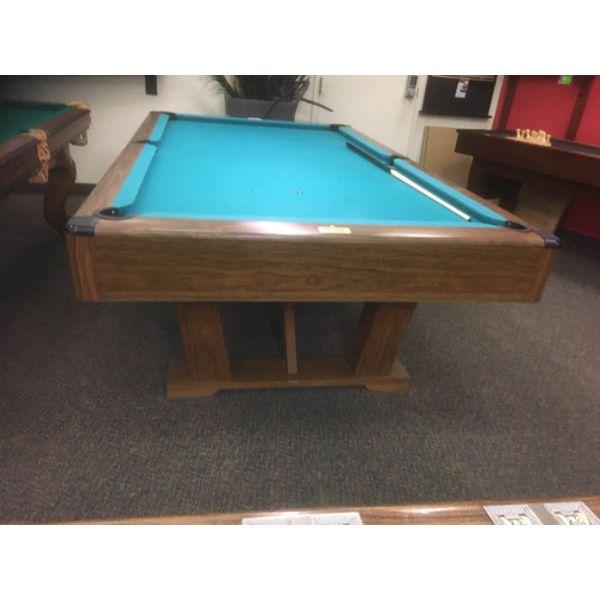 Table de billard usagée Brunswick Imperial VIP 8 x 4 pieds avec ardoise naturelle 1 pouce - IMG 2