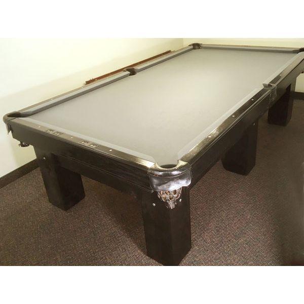Table de billard usagée format compétition 4½ x 9 pieds de marque Canada Billard Anniversary noire avec 6 pattes - pic 1