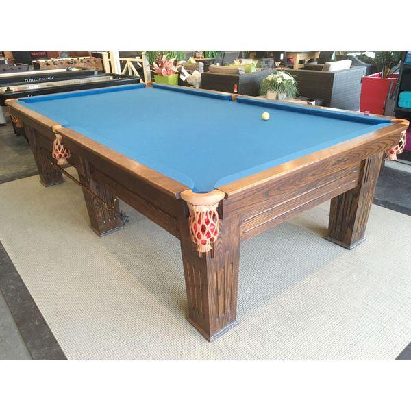 Table de snooker 10 pieds de marque Commonwealth rare usagée antique