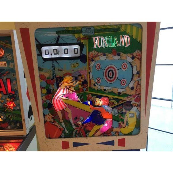 Machine à boules flipper pinball Gottlieb Fun Land 1968 classique rare et antique – 4