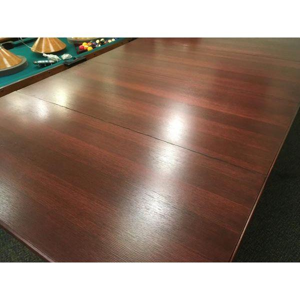 Dessus de table à diner pour table de billard fabriqué en bois massif et plaqué 3