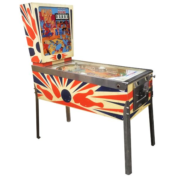 Machine a boules EM Gottlieb King Pin flipper de 1973 jeu antique retro d'arcade rare - photo 1