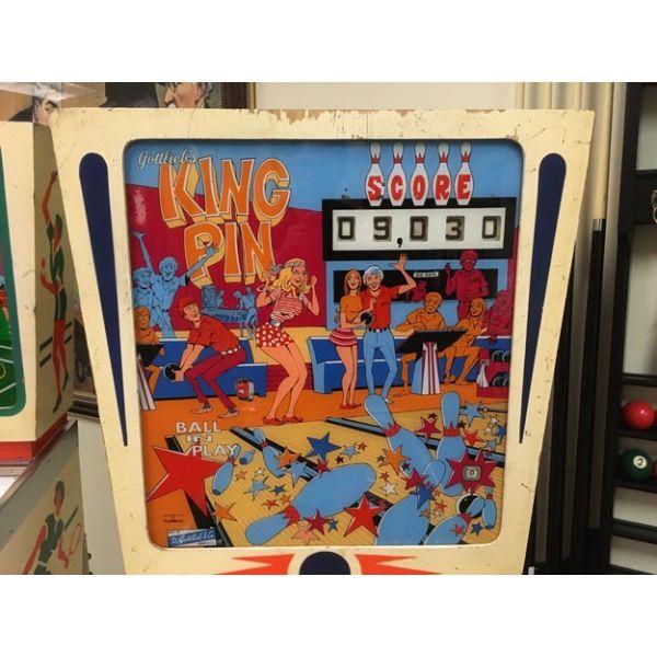 Machine a boules EM Gottlieb King Pin flipper de 1973 jeu antique retro d'arcade rare - photo 4