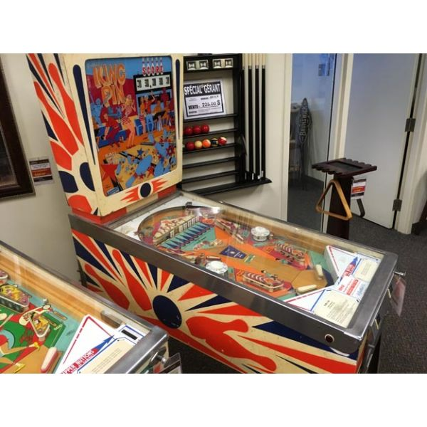 Machine a boules EM Gottlieb King Pin flipper de 1973 jeu antique retro d'arcade rare - photo 5