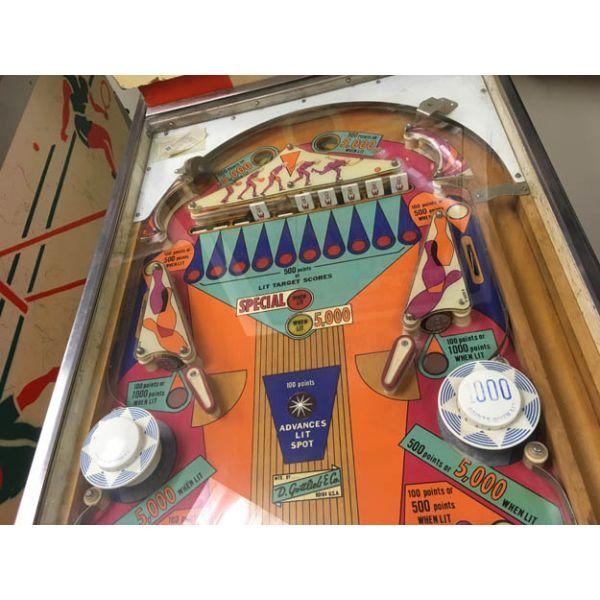 Machine a boules EM Gottlieb King Pin flipper de 1973 jeu antique retro d'arcade rare - photo 7