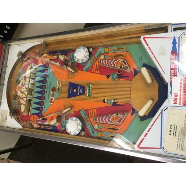 Machine a boules EM Gottlieb King Pin flipper de 1973 jeu antique retro d'arcade rare - photo 8