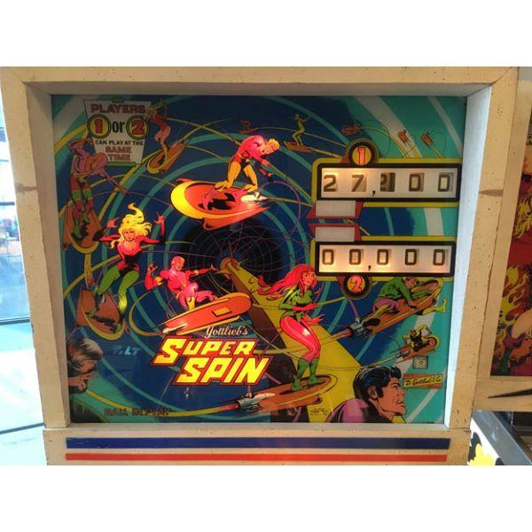 Gottlieb Super Spin pinball machine a boule 1977 classique antique rare - image 2