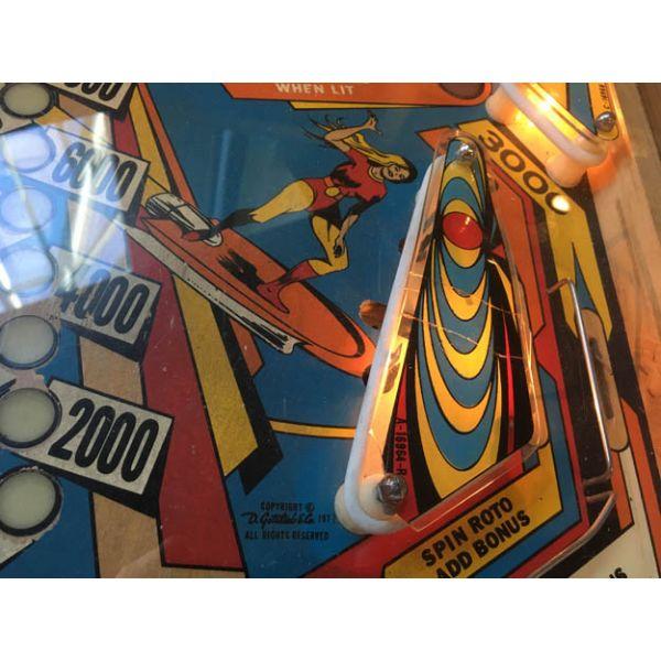 Gottlieb Super Spin pinball machine a boule 1977 classique antique rare - image 5