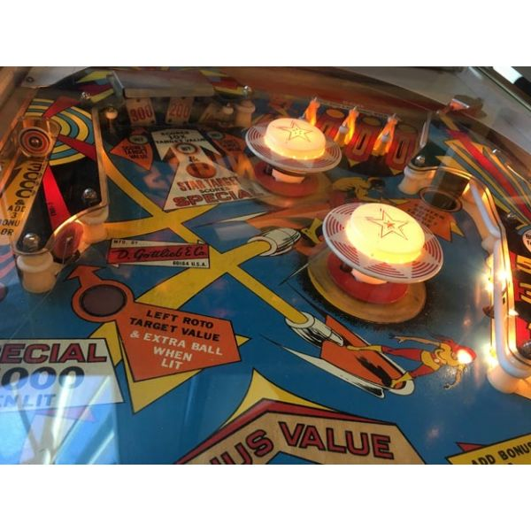Gottlieb Super Spin pinball machine a boule 1977 classique antique rare - image 7