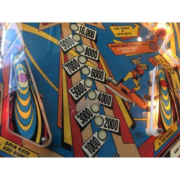 Gottlieb Super Spin pinball machine a boule 1977 classique antique rare - image 9
