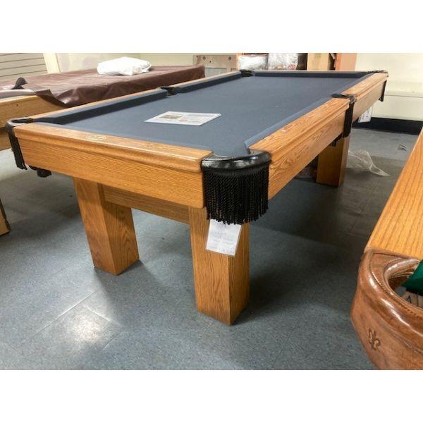 Table de billard usagée Palason Deluxe 7 x 3.5 pieds avec fini Chêne naturel