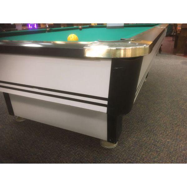 Table de billard usagée Palason Maquis 9 x 4½ pieds avec ardoise naturelle et poches chromées - Image 2