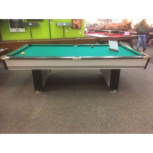Table de billard usagée Palason Maquis 9 x 4½ pieds avec ardoise naturelle et poches chromées - Image 3