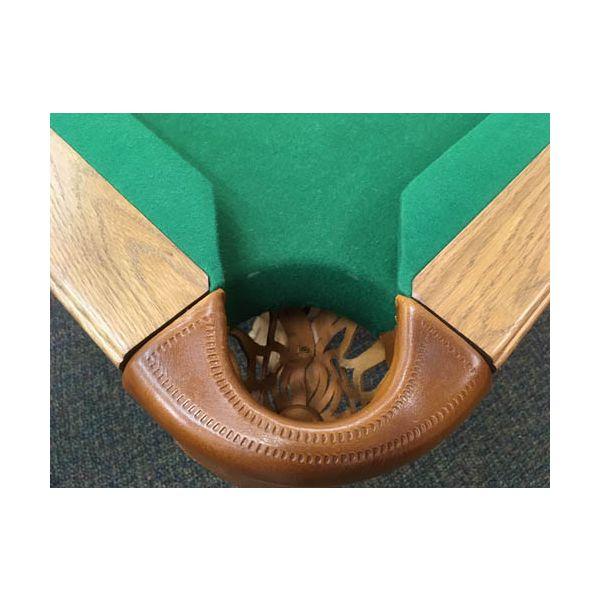 Table de pool Canada Billard usagée seconde main 8 pieds fini moyen avec ardoise véritable - image 5