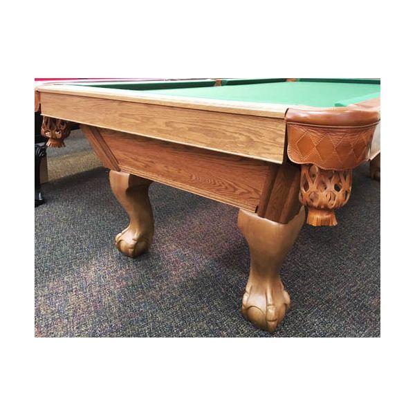 Table de pool Canada Billard usagée seconde main 8 pieds fini moyen avec ardoise véritable - image 2