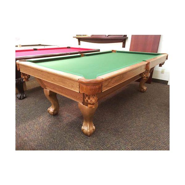 Table de pool Canada Billard usagée seconde main 8 pieds fini moyen avec ardoise véritable - image 1