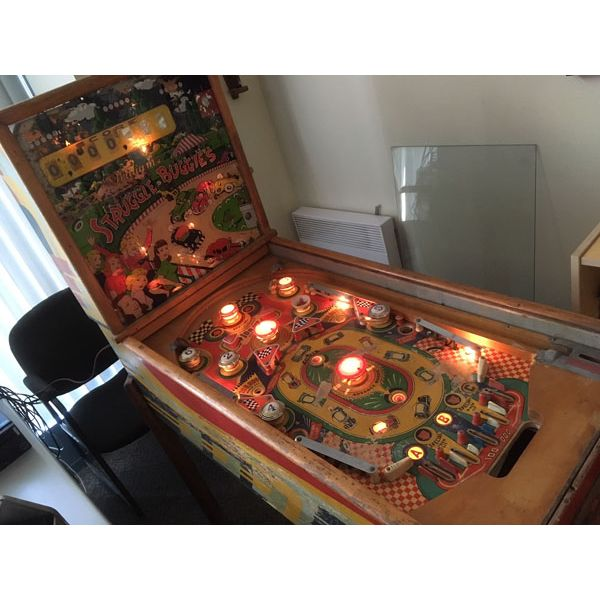 Machine à boules pinball Williams Struggle Buggies 1953 woodrail vintage antique rare pin balle wood rail - image 13