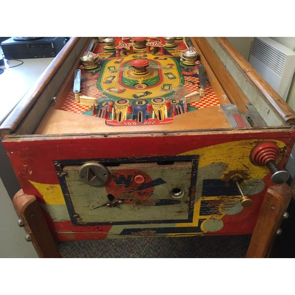 Machine à boules pinball Williams Struggle Buggies 1953 woodrail vintage antique rare pin balle wood rail - image 8