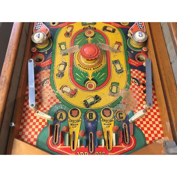 Machine à boules pinball Williams Struggle Buggies 1953 woodrail vintage antique rare pin balle wood rail - image 10