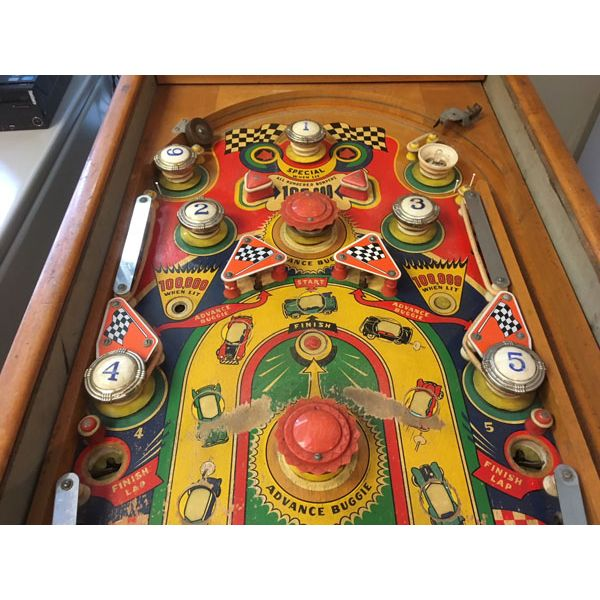 Machine à boules pinball Williams Struggle Buggies 1953 woodrail vintage antique rare pin balle wood rail - image 9