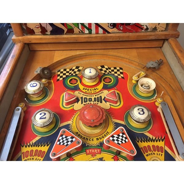 Machine à boules pinball Williams Struggle Buggies 1953 woodrail vintage antique rare pin balle wood rail - image 6