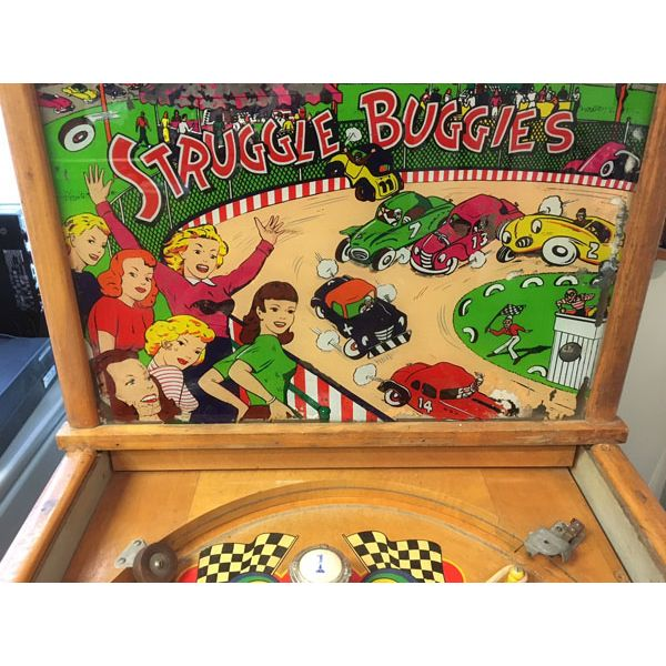 Machine à boules pinball Williams Struggle Buggies 1953 woodrail vintage antique rare pin balle wood rail - image 7