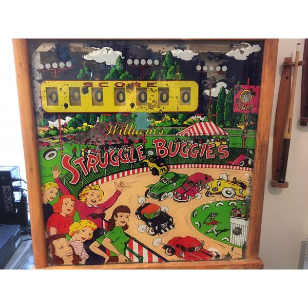 Machine à boules pinball Williams Struggle Buggies 1953 woodrail vintage antique rare pin balle wood rail - image 5