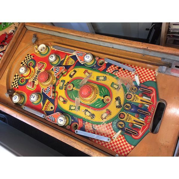 Machine à boules pinball Williams Struggle Buggies 1953 woodrail vintage antique rare pin balle wood rail - image 3