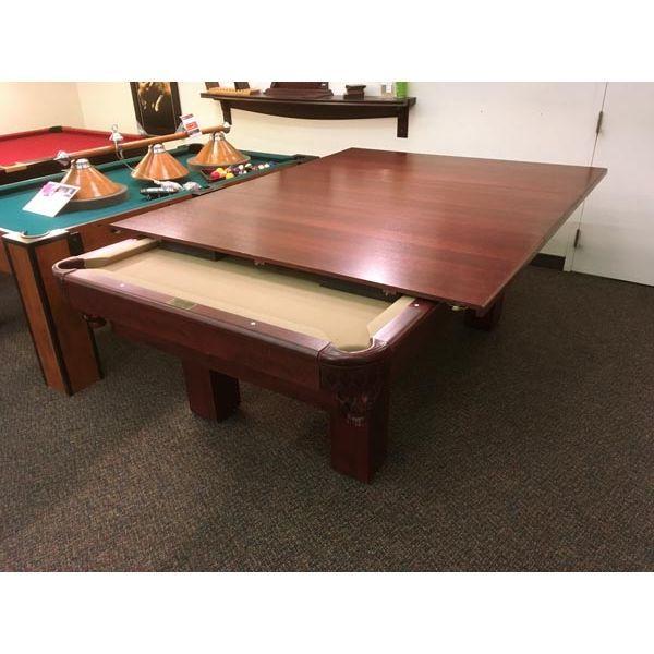 Dessus de table à diner pour table de billard fabriqué en bois massif et plaqué 2