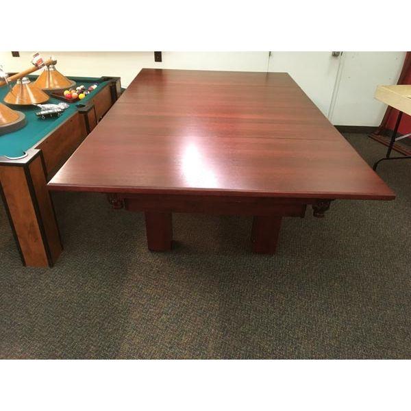 Dessus de table à diner pour table de billard fabriqué en bois massif et plaqué 4