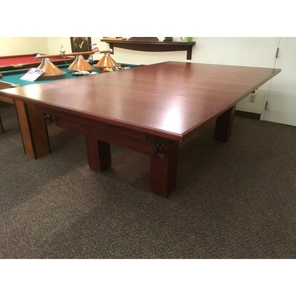 Dessus de table à diner pour table de billard fabriqué en bois massif et plaqué 1