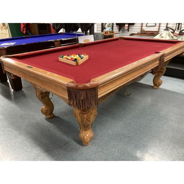 Table de billard usagée Brunswick Glenwood 8 pieds avec bandes en bois massif